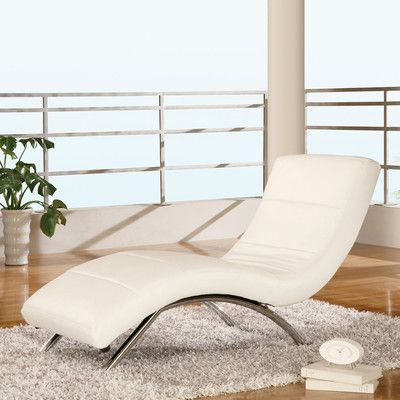 Global Furniture USA Leather Chaise Lounge AllModern