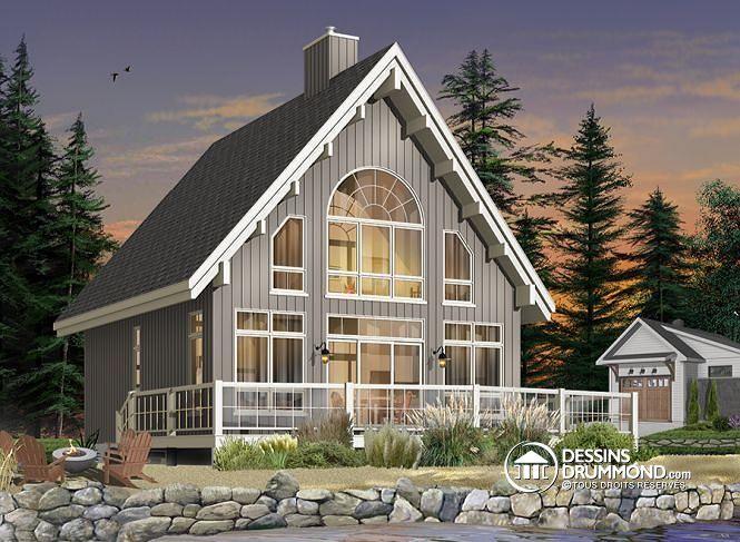 Plan de maison no W3938 de dessinsdrummond chalet Pinterest