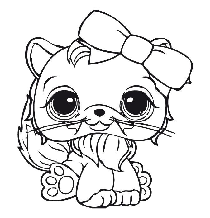 Coloriage dessins littlest pet shop 10 lps coloring pages animal coloring pages cat - Coloriage pet shop ...