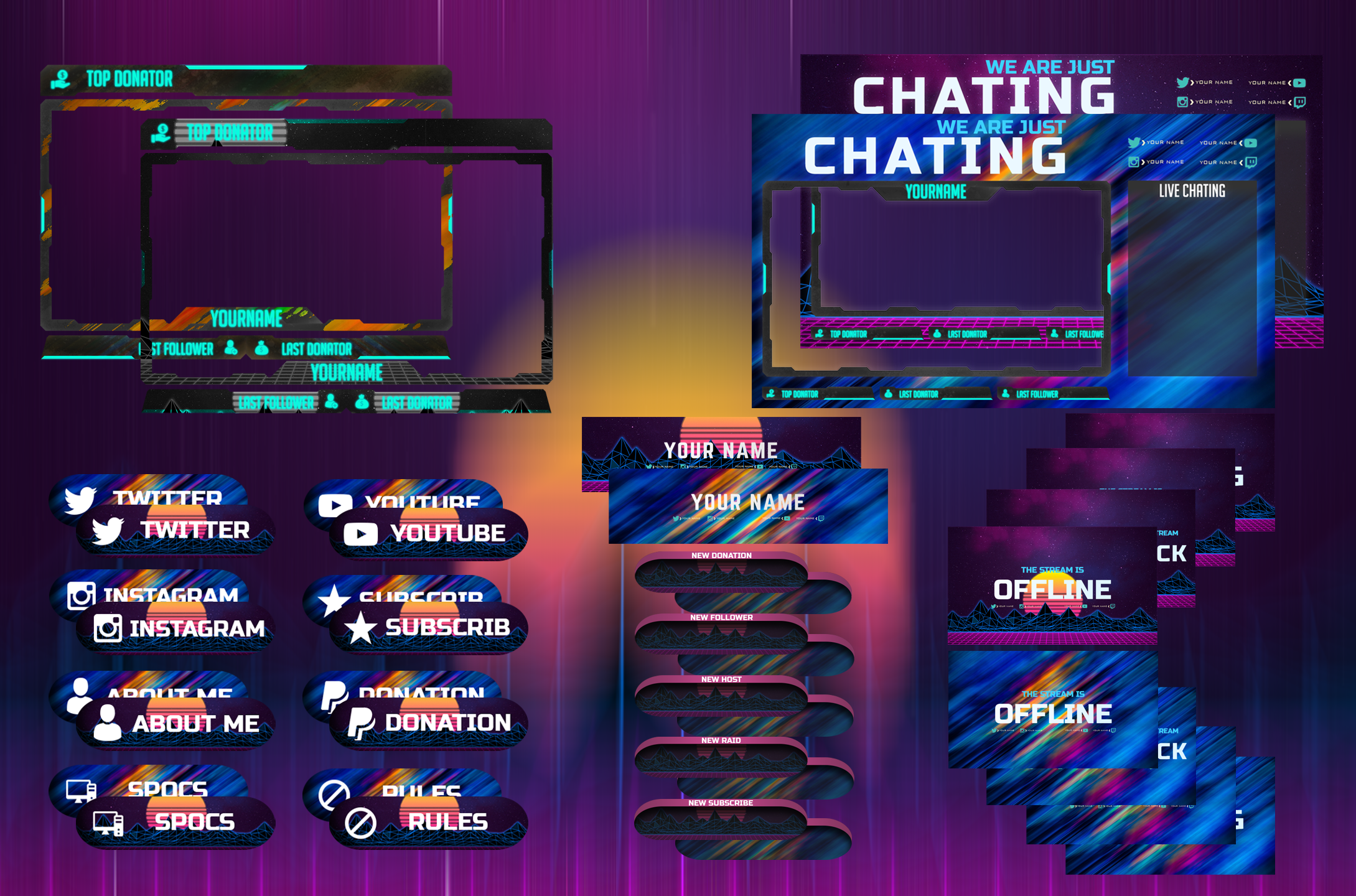 Tchalito226 I Will Twitch Overlay Gaming Design Logo And Screen For Streamers For 25 On Fiverr Com Game Design Book Design Layout Graphics Design Ideas