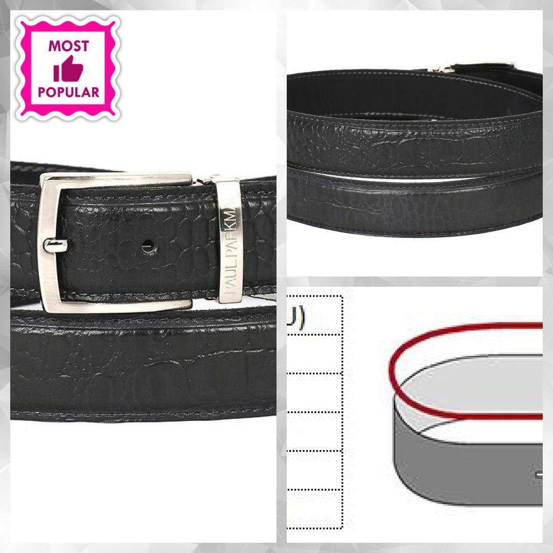 Paul Parkman Men/'s Leather Belt Hand Painted Gray
