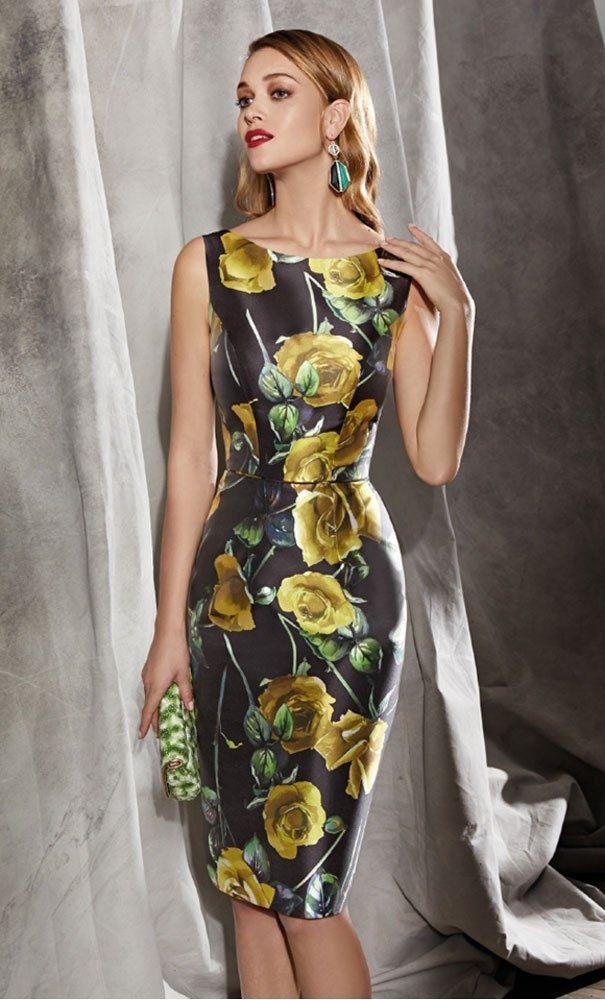 3e56fc0af Vestido VALERIO LUNA Seda Estampado Floral Mostaza en 2019 | Moda Magdalena  | Vestido de seda estampado, Vestidos para senhoras y Vestidos de festa  para ...