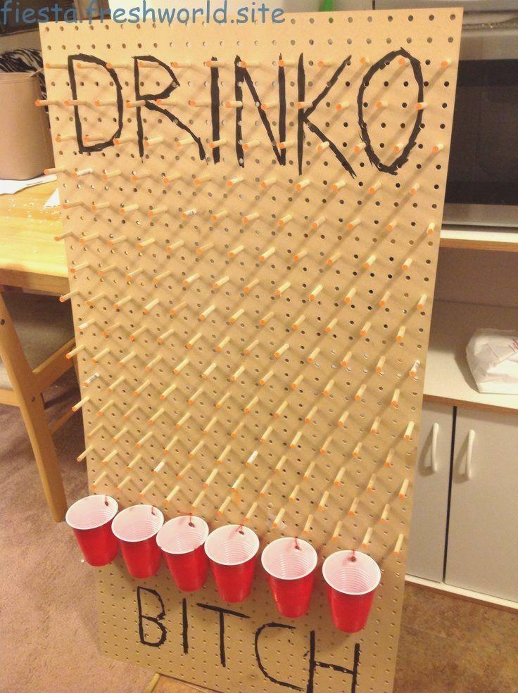 Home made plinko drinking game under 20 21st birthday