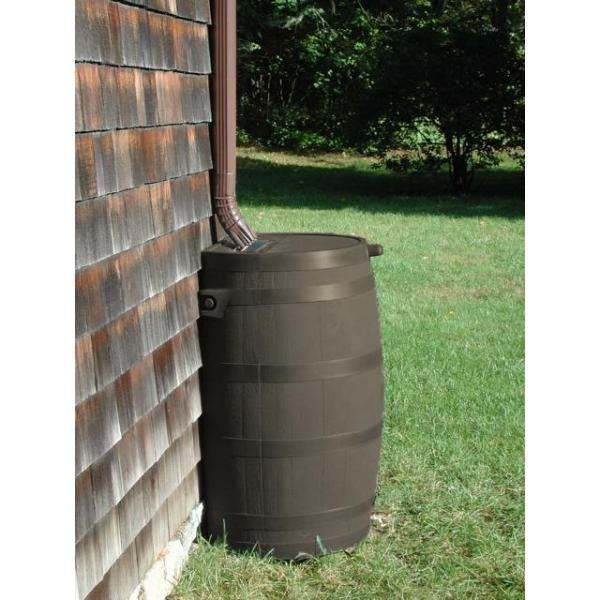 Rts Home Accents 50 Gal Rain Barrel With Brass Spigot 55100009005681 With Images Rain Barrel Off Grid Tiny House Rain Water Collection