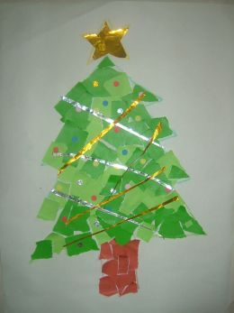 Christmas Tree Collage Paper Craft Christmas Tree Crafts Tree Collage Preschool Christmas Crafts
