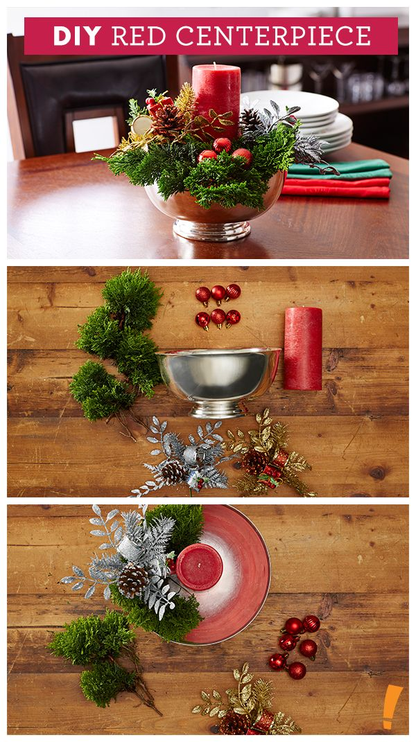Red Gold Holiday Centerpiece Christmas Centerpieces Holiday Centerpieces Xmas Centerpieces