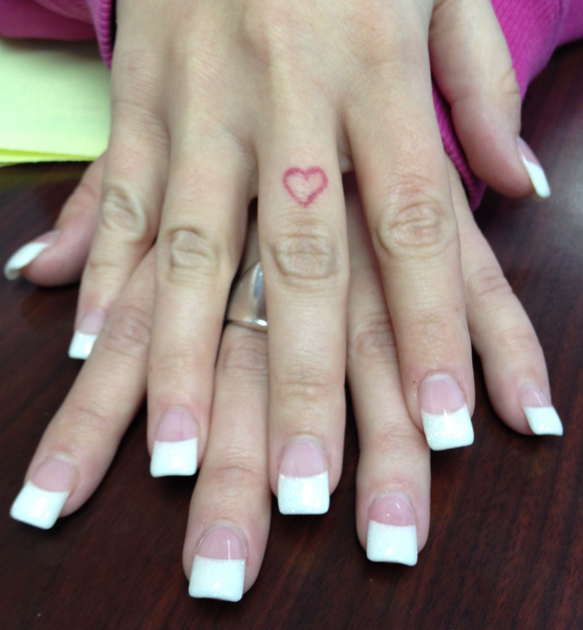 white french tip acrylic nails | nails | pinterest | manicure