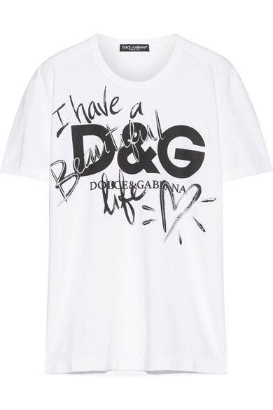 DOLCE   GABBANA Printed Cotton-Jersey T-Shirt.  dolcegabbana  cloth  tops ccfd3bcfc49