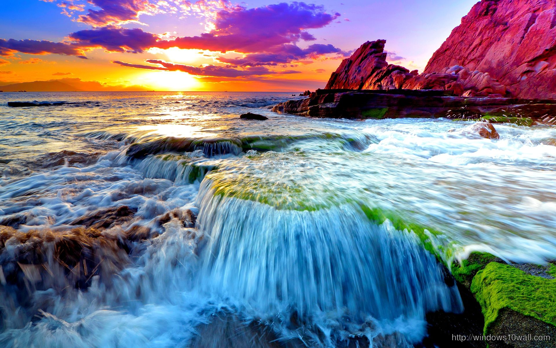 Beautiful Scene Of Earth Ocean Wallpaper Windows 10 Wallpapers Ocean Wallpaper Waterfall Wallpaper Nature Wallpaper