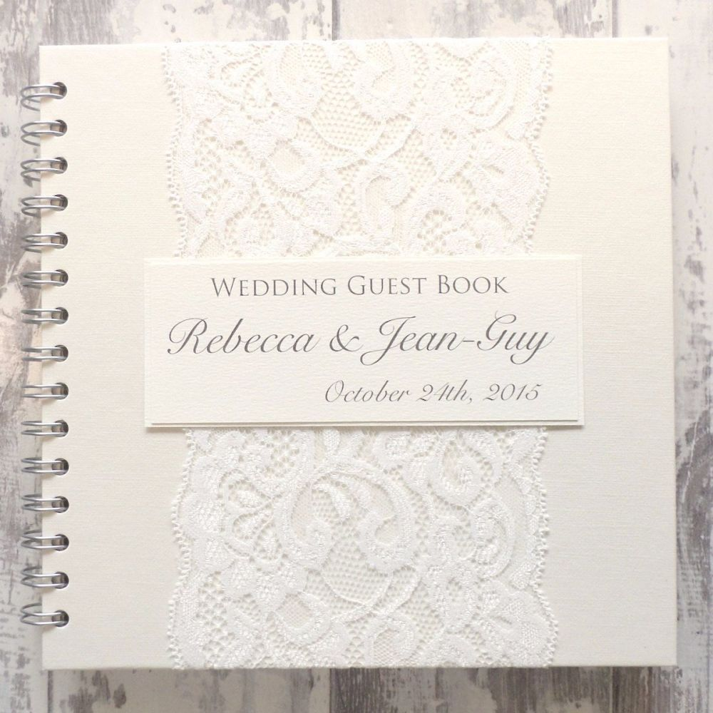The DesignThis beautiful wedding guest book oozes elegance and is