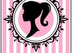 image relating to Free Printable Barbie Silhouette known as No cost BARBIE SILHOUETTE PRINTABLES Birthday Printables