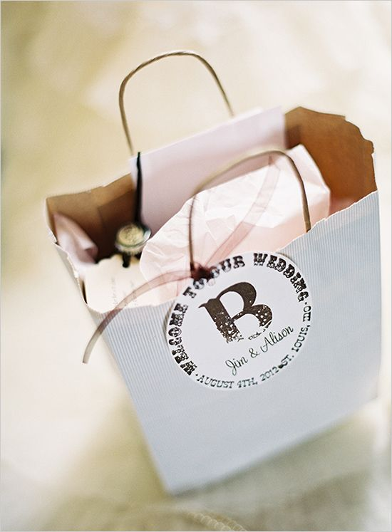 Wedding gift bags for guest