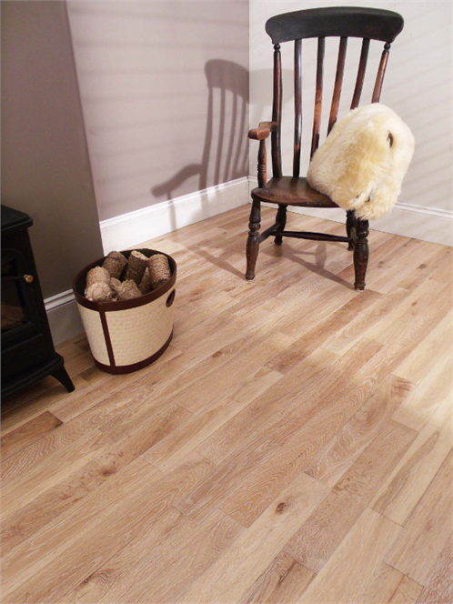 Westco 18mm 1 Strip Whitewashed Solid Oak Flooring Floors