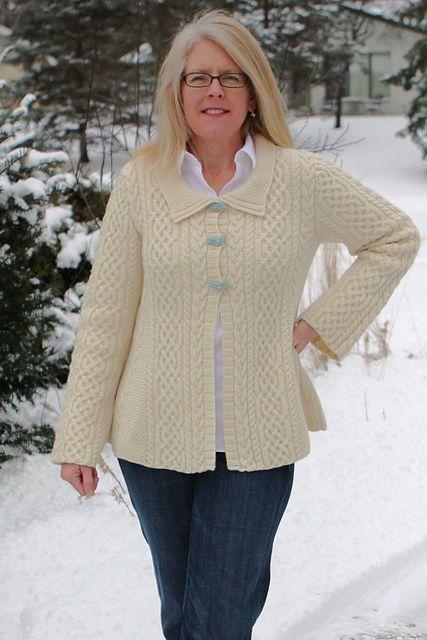 Aran A-Line Sweater pattern by Jennifer Donze | Tejido, Tejidos de ...