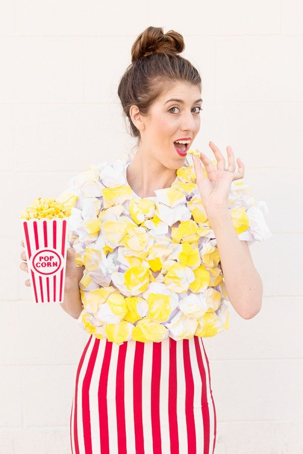 DIY Popcorn Costume - great fun as a kids or adult costume!  sc 1 st  Pinterest & DIY Popcorn Costume | Pinterest | Popcorn costume Popcorn and Costumes