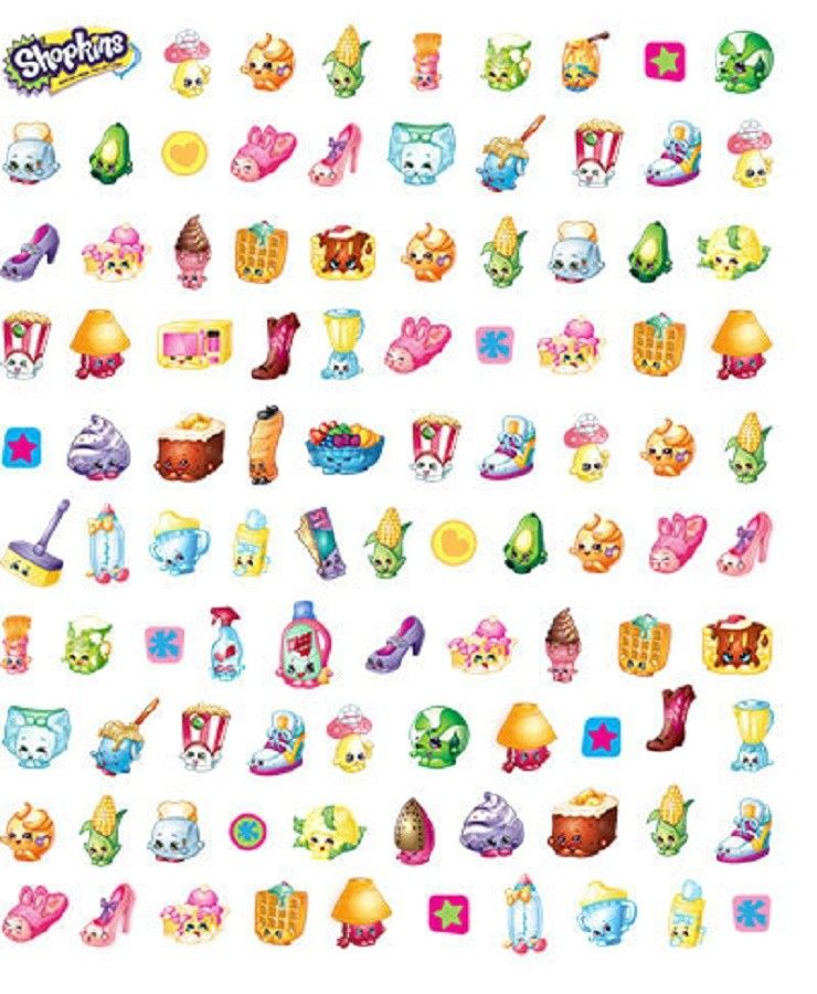 Shopkins Cartoon Characters Confetti Stickers Pack Of 100