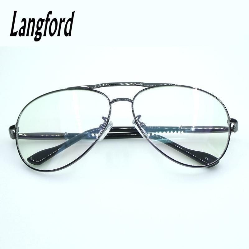 Double Bridge eyeglasses frame men optical glasses full big hipster ...