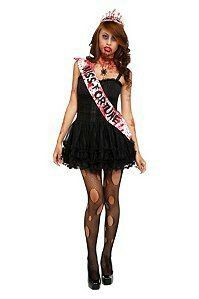 Brand New Undead Zombie Prom Queen Child Costume