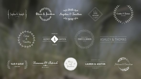 Wedding Titles is a modern After Effects template  Elegant