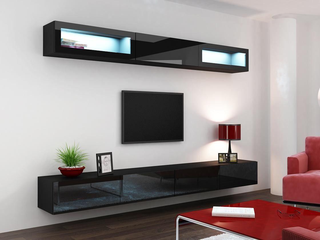 Modular Lcd Rack Panel Tv Moderno Living Vivo 11 Mega Cell  # Muebles Living Mercadolibre