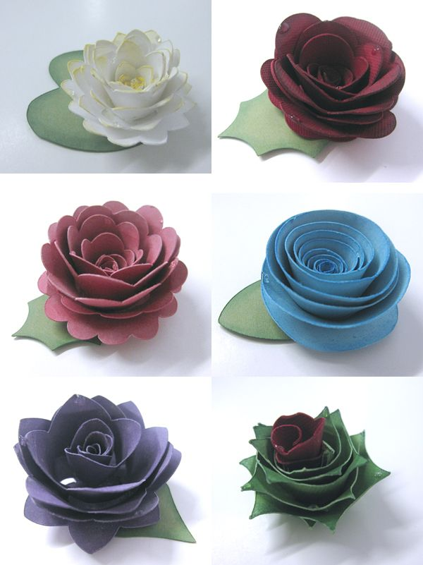 Twirled Flowers Free Cutting Files Wpc Svg Pinterest Paper