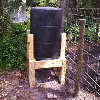 how to make a pig waterer with barrel