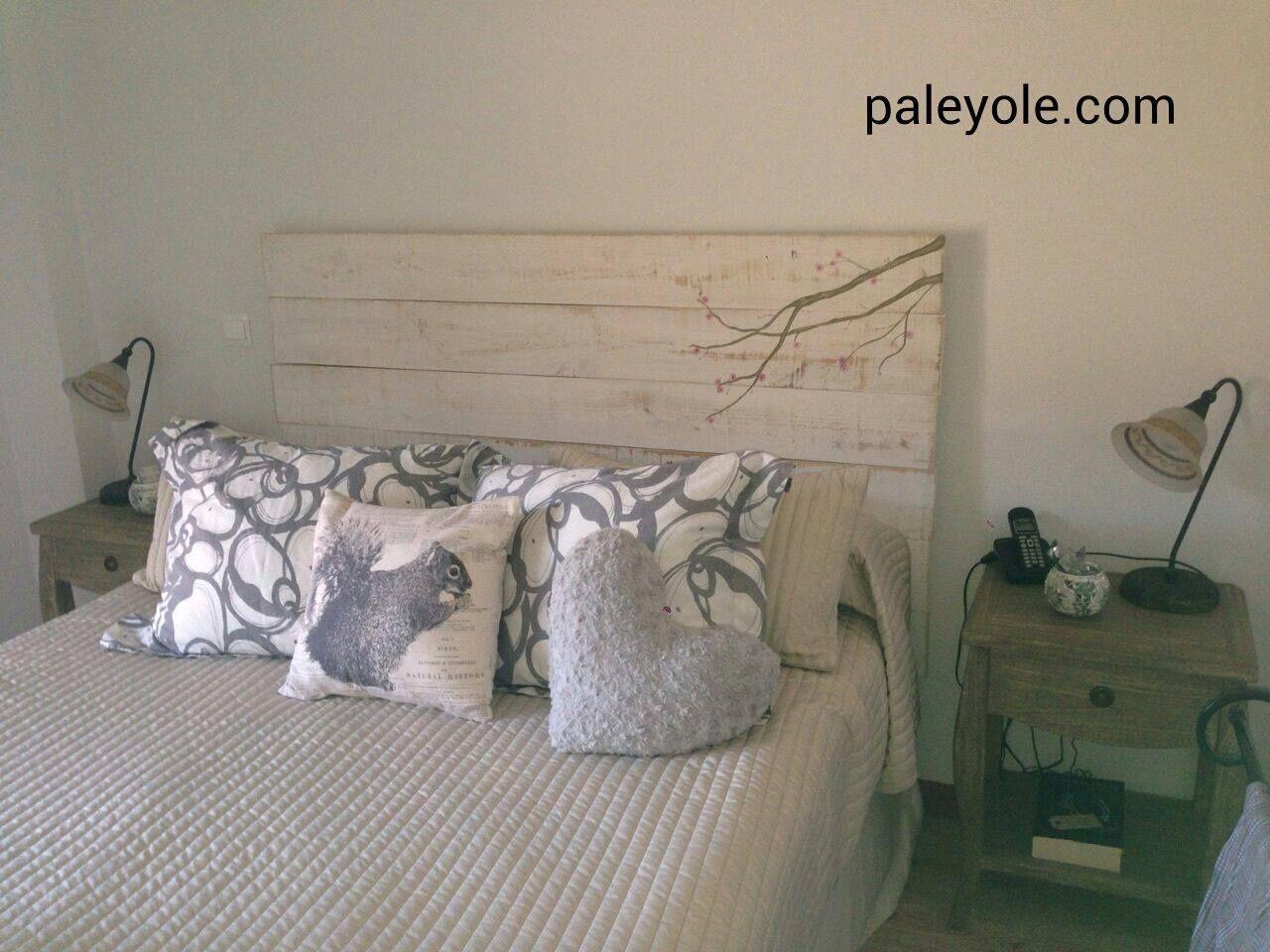 Cabeceros de cama hechos con madera de palet pal - Cabeceros de cama con palets ...