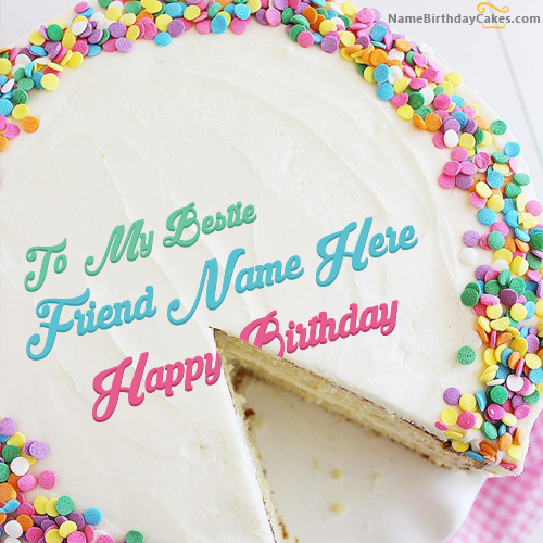 Write Name On Beautiful Birthday Cake For Friends - Happy Birthday Wishes
