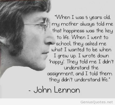 Life Quotes Happy Quotes John Lennon Life Quotes