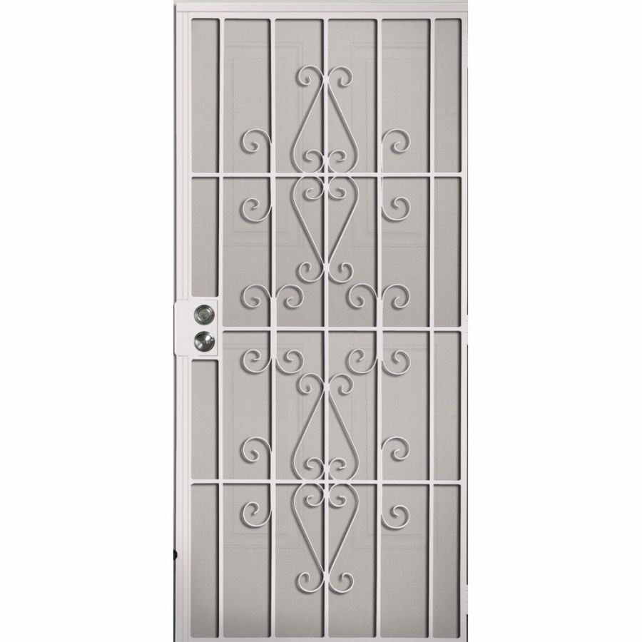 Shop Gatehouse 36 In X 81 In Achilles White Steel Security Door At