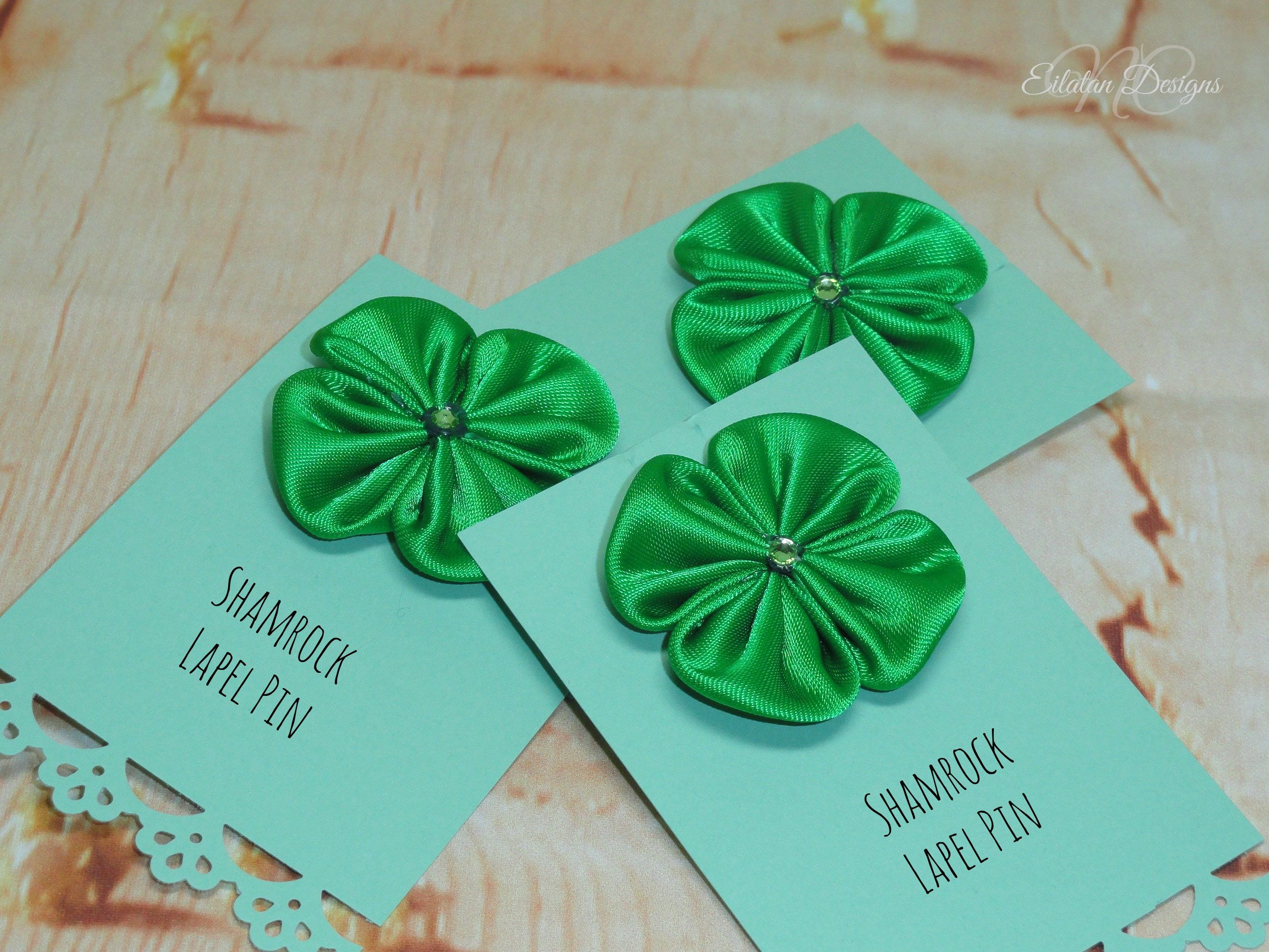 Good Luck Gift Lucky Clover Pin St Patrick S Day Four Leaf Brooch Lapel Shamrock Green Irish