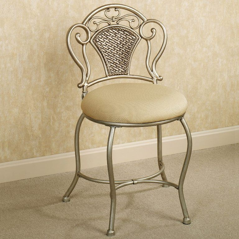 Vanity Chair With Back And Wheels Vanity Bench Chair Stool | House