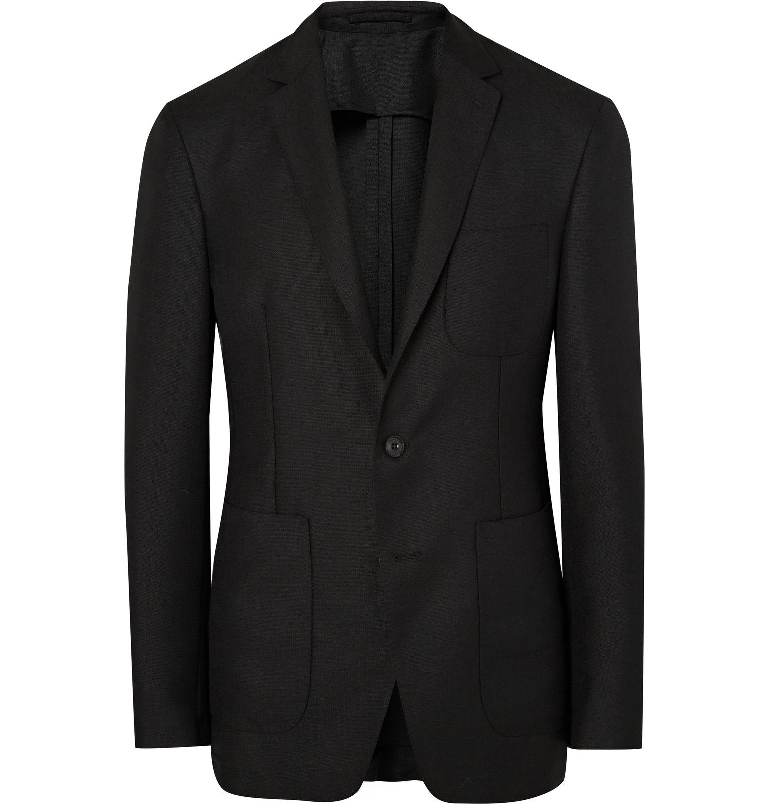 Versatility is key when it comes to smart dressing, and <a href='http://www.mrporter.com/mens/Designers/Burberry_London'>Burberry</a>'s black blazer is a veritable choice for any season. This neatly tailored piece has been crafted in Italy from mohair and wool-blend hopsack, a lightweight material coveted for its exceptional breathability and wrinkle resistance. It's only lined through the sleeves to ensure the most comfortable fit, even in warmer climes. Wear yours with chinos at the…
