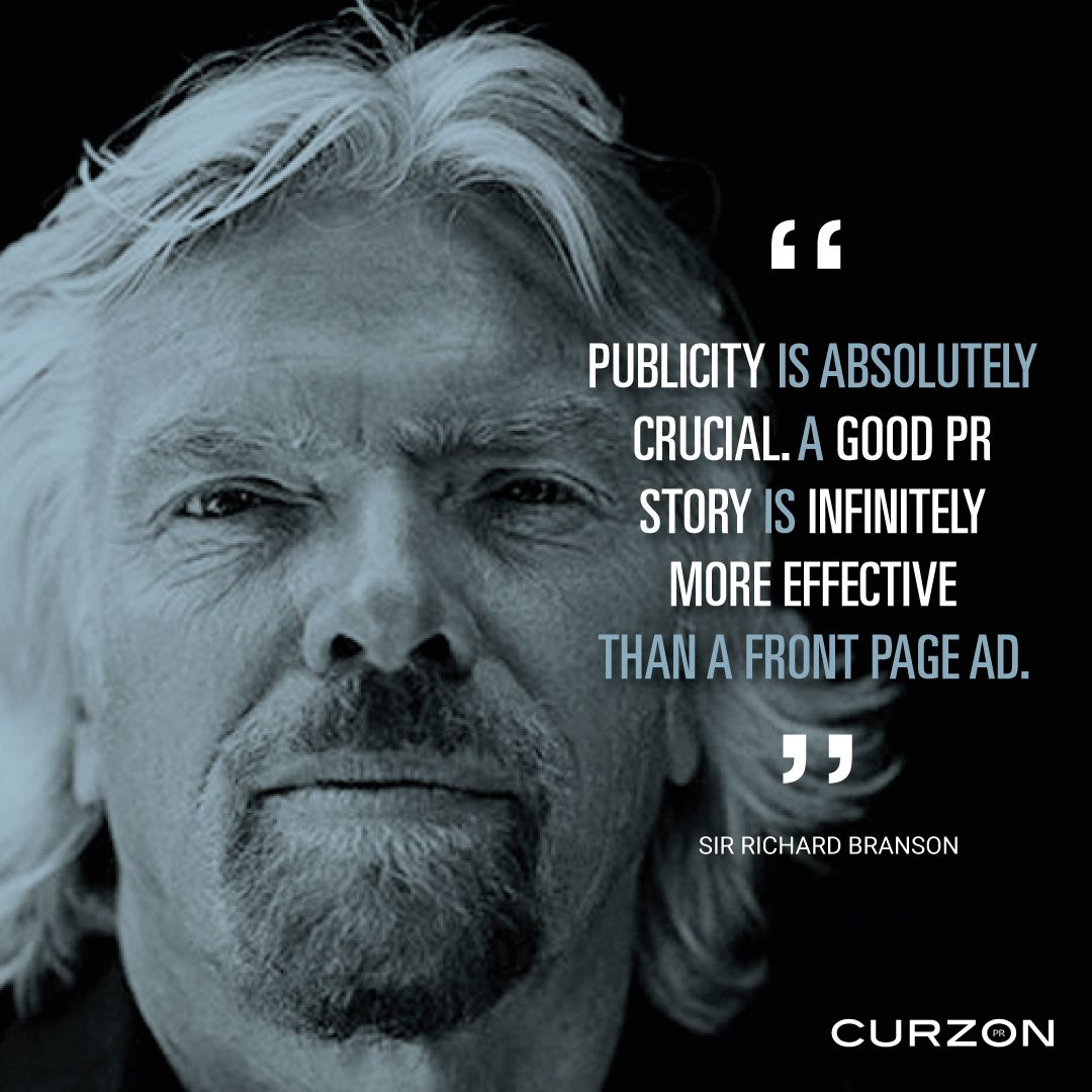 This Weeks Pr Quote Is From Sir Richard Branson On The