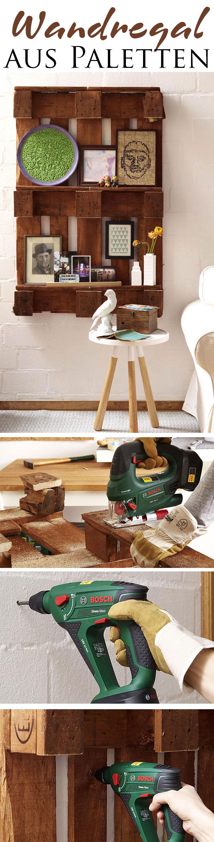 paletten wandregal pinterest selbst bauen wandregal und europalette. Black Bedroom Furniture Sets. Home Design Ideas