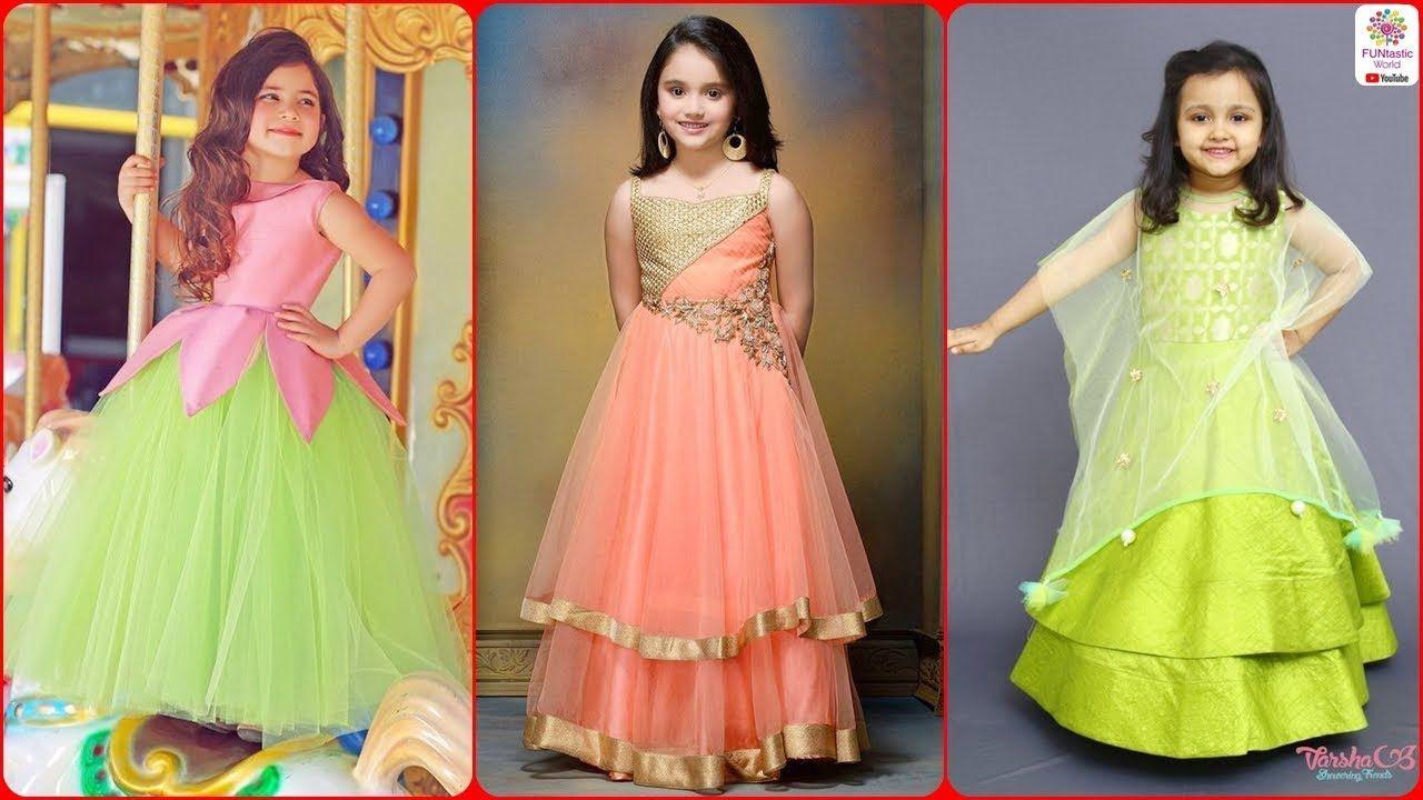 2dbc983efe745 Latest Stylish Kids Party Wear Frocks for Girls   Baby