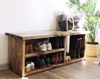 48 Shoe Rack Bench With Boot Cubby Two Tone By Thehenryhouse Ideas