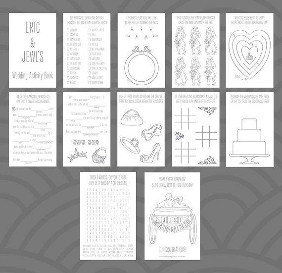 Wedding Activity Book Design Van Divertenti Op Etsy