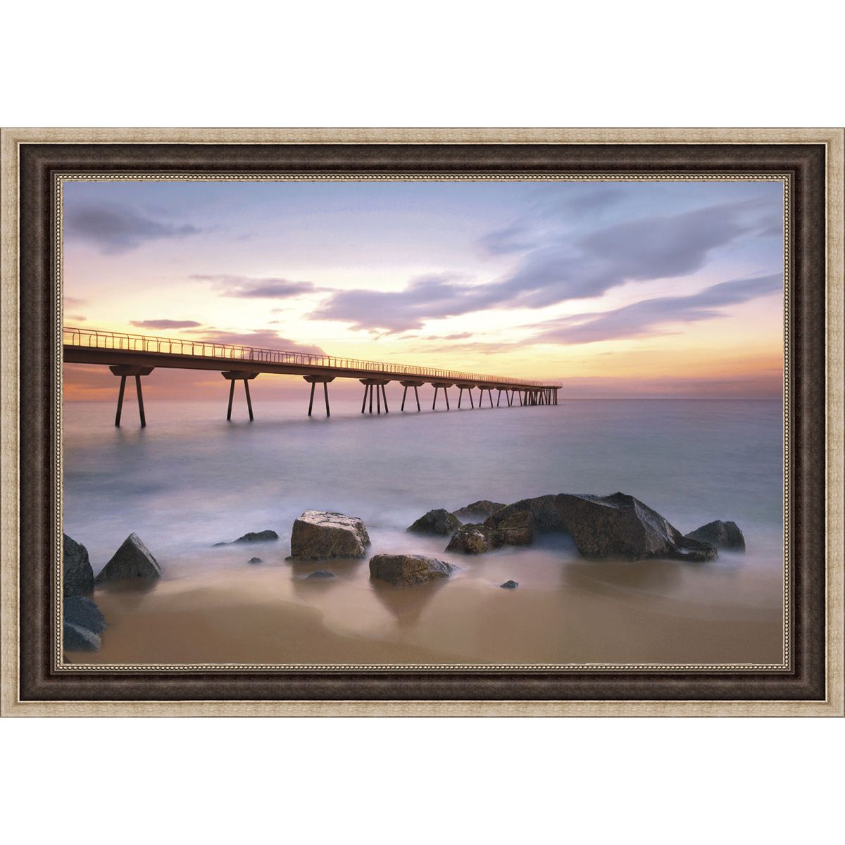 Sergi Mora 'The Pier' Framed Print