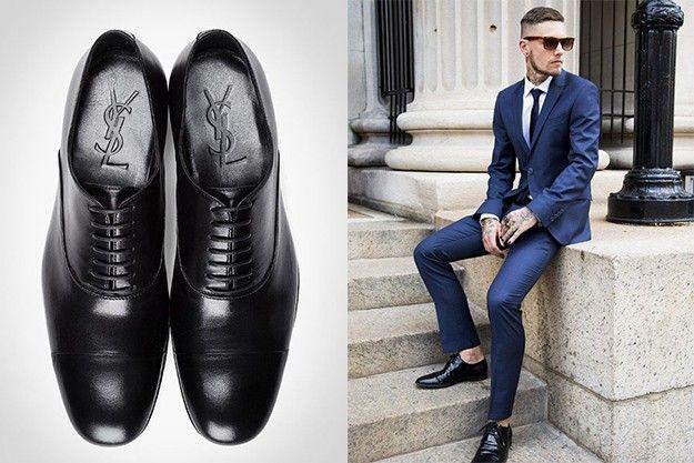 chaussures de mariage de couleur noire et costume bleu style pinterest chaussures de. Black Bedroom Furniture Sets. Home Design Ideas
