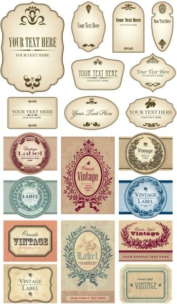 European Label Vector Vintage Labels Labels Printables Free Bottle Stickers