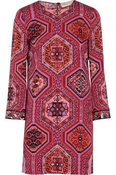 Emilio Pucci Printed stretch-silk mini dress | NET-A-PORTER