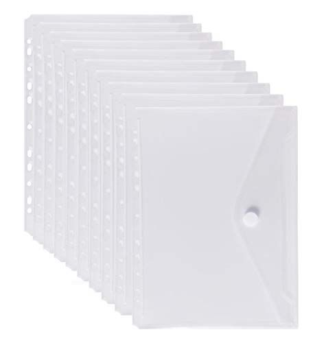 LaOficina 11 Holes Clear Poly Envelope Binders Pocket Ins