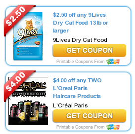 9lives dry cat food coupons