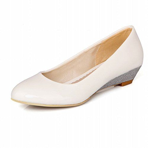 Carol Shoes Fashion Women's Cuff Elegance Cute Sequins Wedge Heel Flats Dress Shoes (4.5, White) Carol Shoes http://www.amazon.com/dp/B00QYA1892/ref=cm_sw_r_pi_dp_BV.6wb1NFV49J