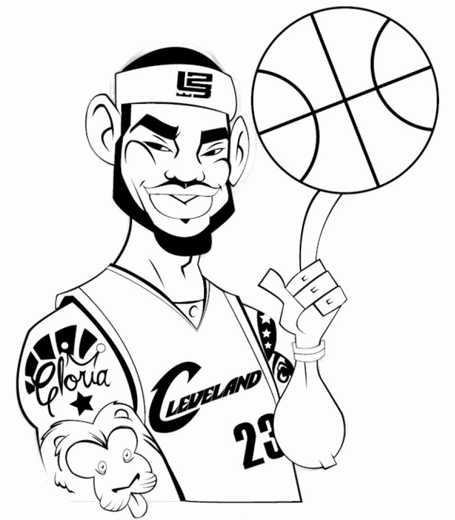 Lebron James Coloring Page Best Of Basketball Players Coloring Page Le Bron James Printable Halloweenfiles C In 2020 Super Coloring Pages Coloring Pages Lebron James