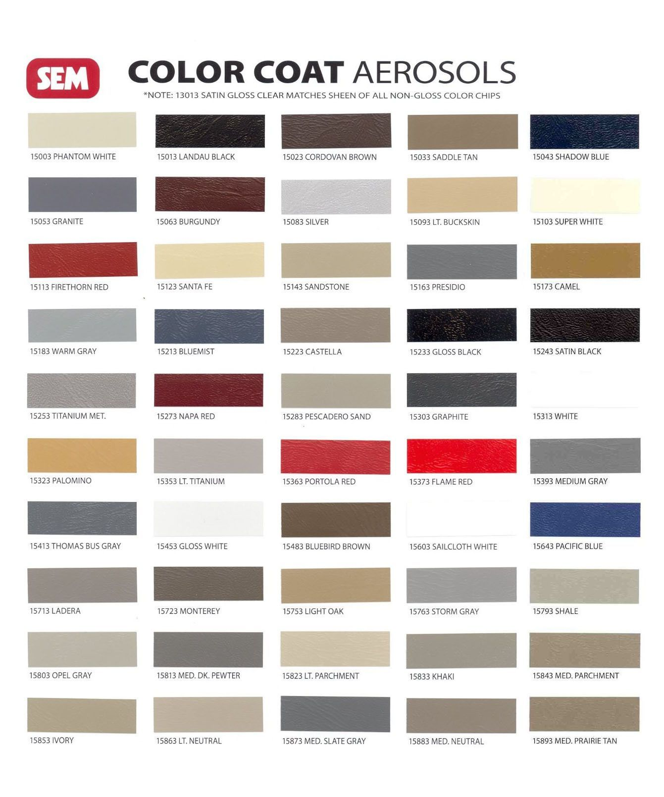 Sem Color Coat Aerosols Vinyl Painted Vinyl Spray Paint Interior Paint