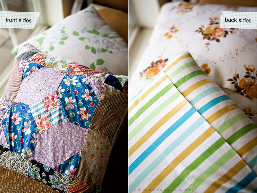 use pillow case ends for throw pillow envelope closure just sew