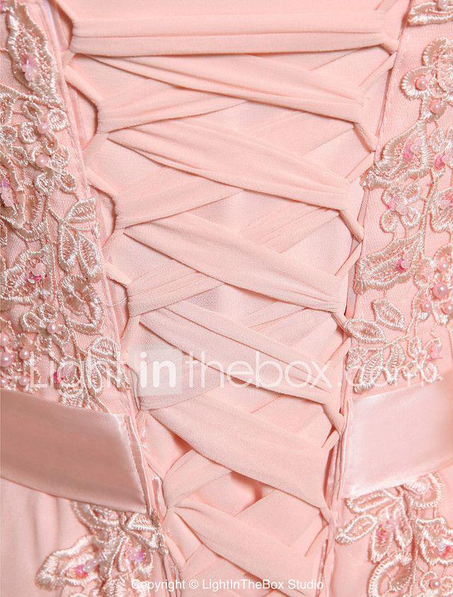 Vestido formal de fiesta de baile - encaje de una línea joya ...