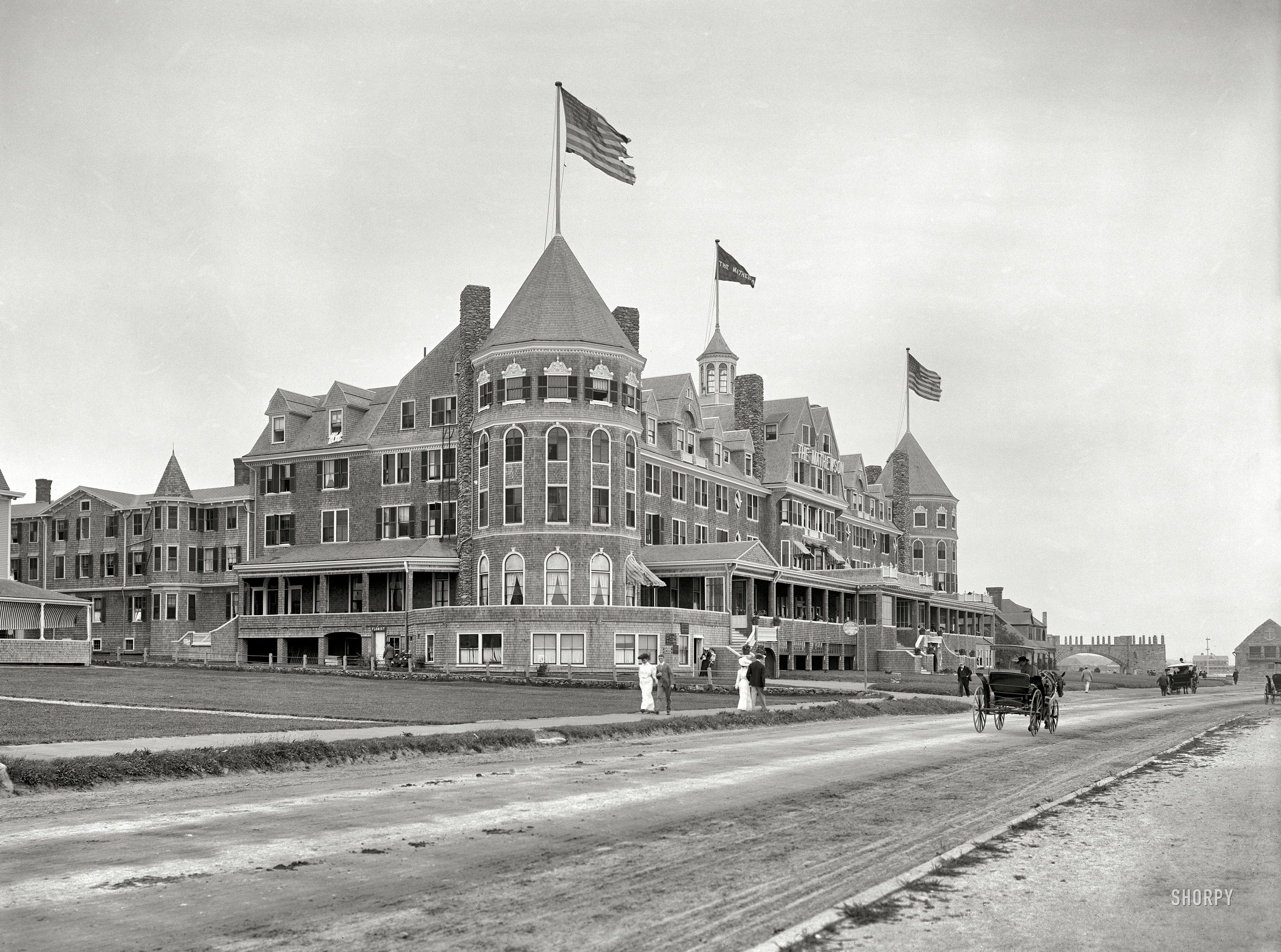 Hotel Mathewson At Narragansett Pier Rhode Island 1910